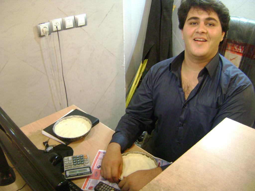 Die Pizza wurde liebevoll am Schreibtisch gemacht...